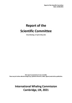 2021 Report of the SC68C Meeting