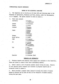 1973 Scientific Committee Report