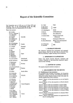 1978 Scientific Committee Report