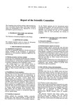 1989 Scientific Committee Report