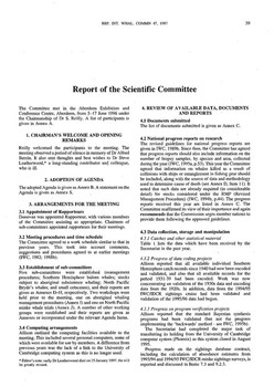 1996 Scientific Committee Report