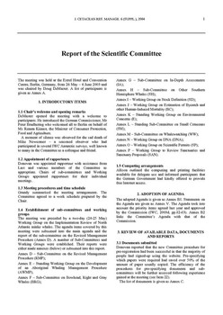 2003 Scientific Committee Report