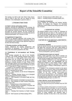 2005 Scientific Committee Report