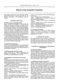 2009 Scientific Committee Report