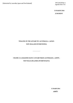 IWC/65/20 Rev 1 International Court of Justice – Full judgement (Submitted by Australia, Japan and New Zealand)