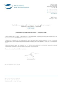 IWC.ALL.239 | Government of Japan Special Permits - Southern Ocean