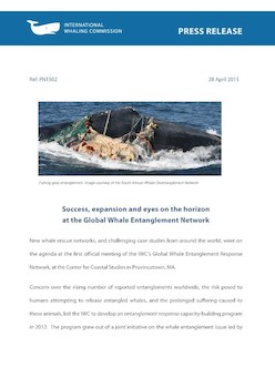 IWC Press Release: Success, expansion and eyes on the horizon at the Global Whale Entanglement Network