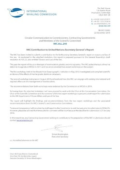 IWC.ALL.240 | IWC Contribution to United Nations Secretary Generals Report