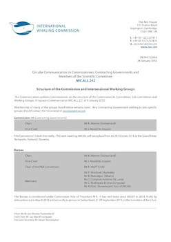 IWC.ALL.242 | Structure of the Commission and Intersessional Working Groups