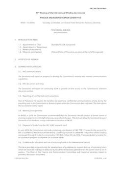IWC/66/F&A01Rev - Provisional Agenda and annotations