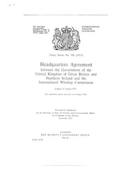 IWC & UK Headquarters Agreement