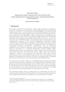 IWC/66/16 - Discussion Paper. Responses to Japan's questionnaire and a way forward (submitted by Japan)