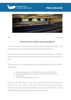 IWC Press Release: Background information for media - IWC66