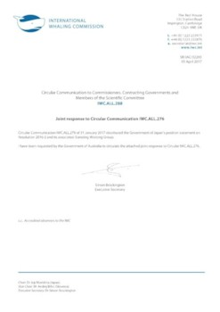 IWC.ALL.288 | Joint response to Circular Communication IWC.ALL.276