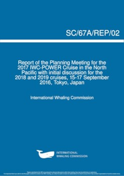 SC/67a/Rep02 Planning for 2017 POWER cruise