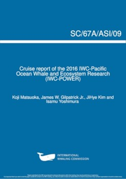 SC/67a/ASI09 2016 POWER cruise report