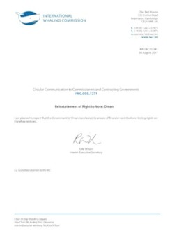 IWC.CCG.1271 | Reinstatement of Right to Vote: Oman