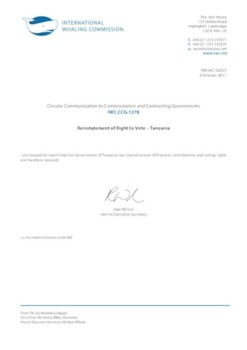 IWC.CCG.1278 | Reinstatement of Right to Vote - Tanzania