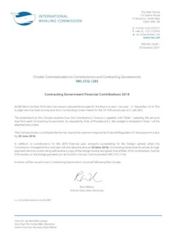 IWC.CCG.1285 | Contracting Government Financial Contributions 2018