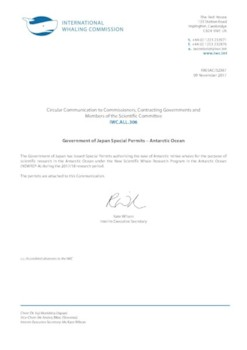 IWC.ALL.306 | Government of Japan Special Permits - Antarctic Ocean