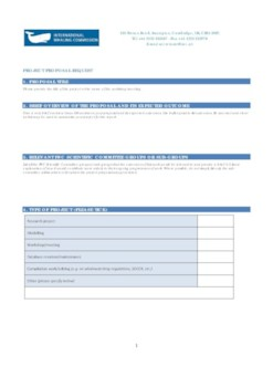 Pro forma for new project proposals
