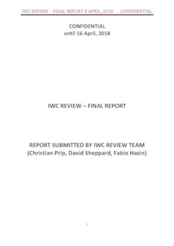 IWC REVIEW  - FINAL REPORT 16 April 2018