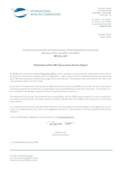 IWC.ALL.324 | Publication of the IWC Governance Review Report
