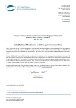 IWC.ALL.328 | United Nations: IWC Submission on Anthropogenic Underwater Noise