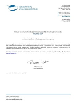IWC.CCG.1327 | Invitation to submit voluntary conservation reorts