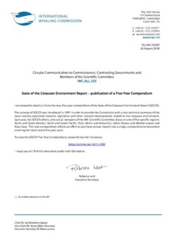 IWC.ALL.335 | State of the Cetacean Environment Report - publication of a Five-Year Compendium