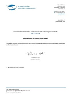 IWC.CCG.1339 | Reinstatement of Right to Vote - Palau