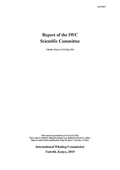 2019 Scientific Committee Report